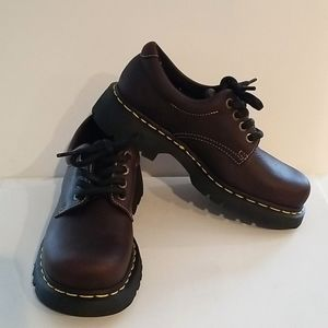 Doc Martens Brown Leather Sly Shoes NEW Unisex 9